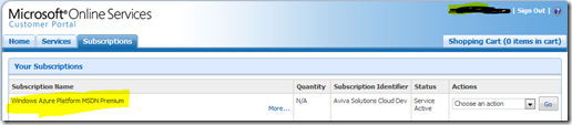 MSDN Azure description